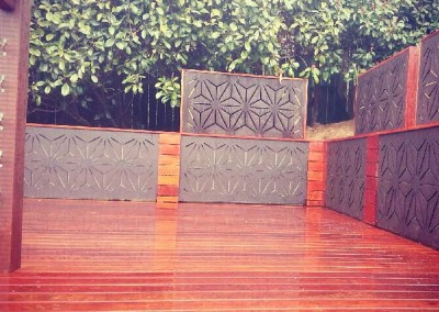 Decking with decorative screens