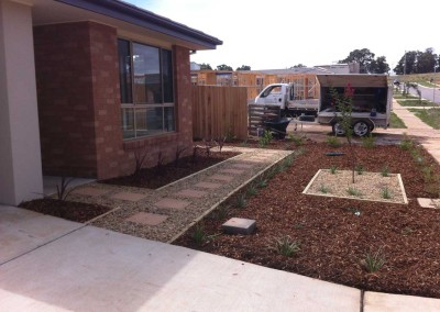 Easy care front garden in Forde