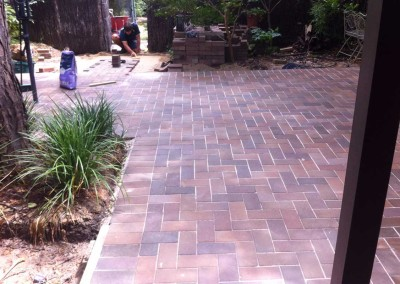 Paving in progress at Greenway, Canberra