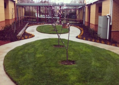 Designed landscape for retirement home
