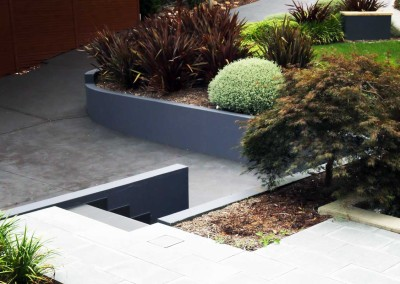 Residential planting and paving in O'Connor