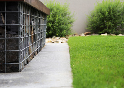 Residential stone work, paving and lawn in O'Connor Canberra