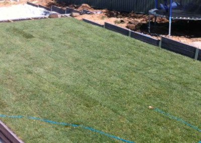 Landscape construction in Hawker