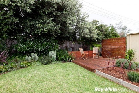 Small deck garden design in Canberra