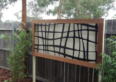 Screen feature as part of landscape design