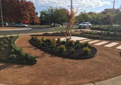 Landscaped entry garden for Majura Primary School, Canberra